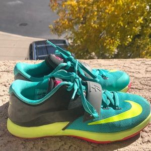 Kd's (True teal, yellow, pink, and gray)